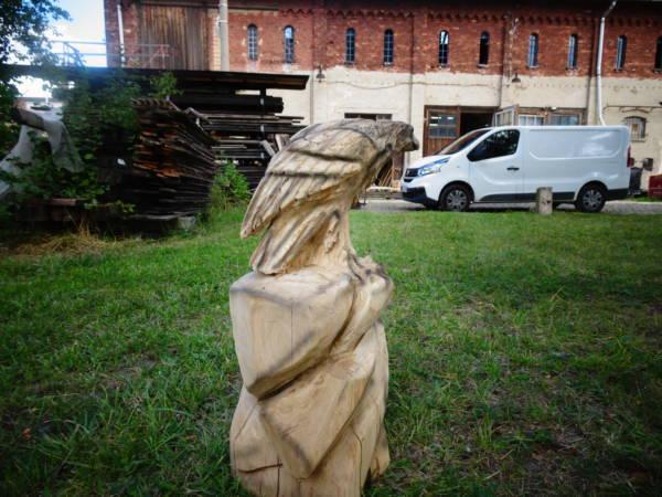 Adlerfigur,#Holzfigur